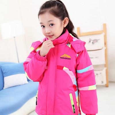 韓版兒童加厚迷彩保暖外套 (3.8折)