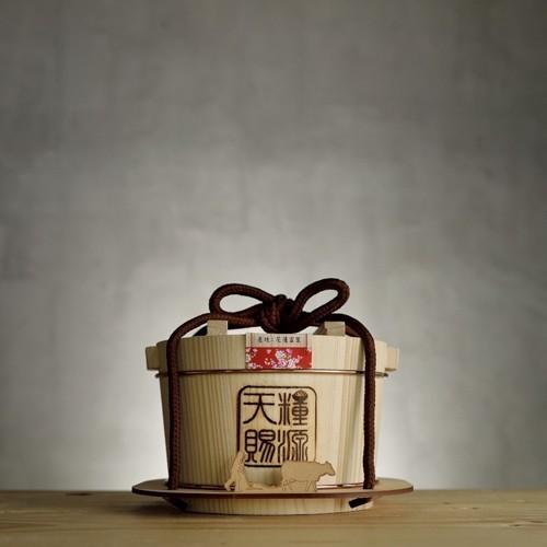 鮮食優多  天賜糧源花開富貴好禮稻木桶禮盒1組