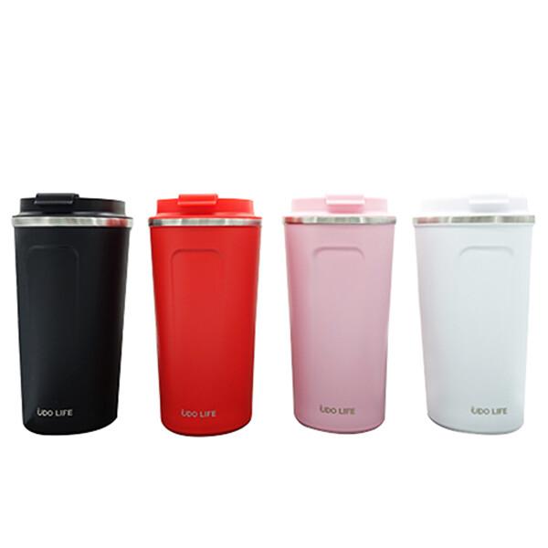 好東東不鏽鋼翻蓋咖啡保溫杯(黑色/白色/粉色/紅色)