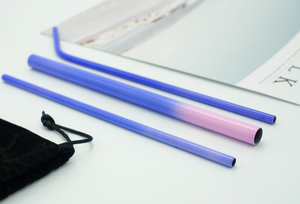 好東東不鏽鋼sgs認證粉紫變色吸管