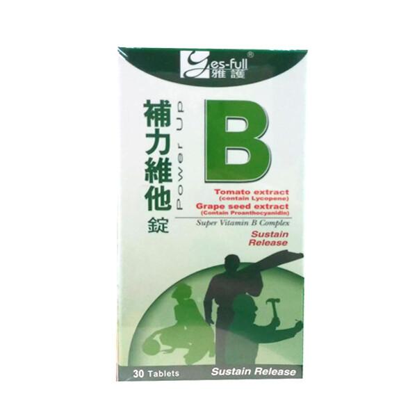 雅護 補力維他-b持續錠 30錠(b群)