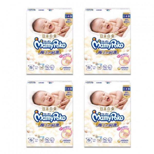 滿意寶寶 極上呵護紙尿褲 s 60片*4包入(箱購)
