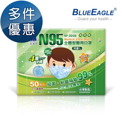 【藍鷹牌】立體型6-10歲兒童醫用口罩 50片x1盒 (7.5折)