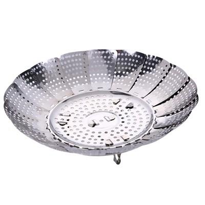 XH 不鏽鋼蒸籠 創意蒸籠 家用小型蒸籠 廚房小蒸籠 不鏽鋼蒸籠盤 不鏽鋼蒸盤 簡易蒸盤 - 【小號 (7折)