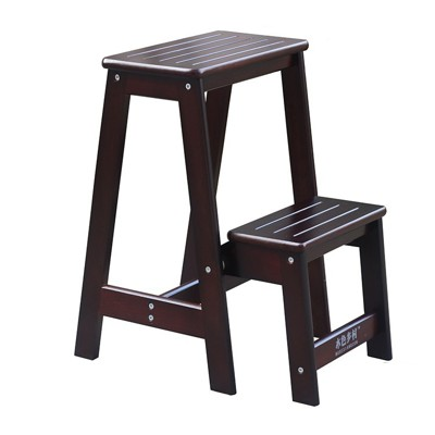 梯子實木家用梯子兩步摺疊梯凳 兩用登高凳蹬梯二步梯換鞋凳fa小小倉倉05-19 (5.3折)