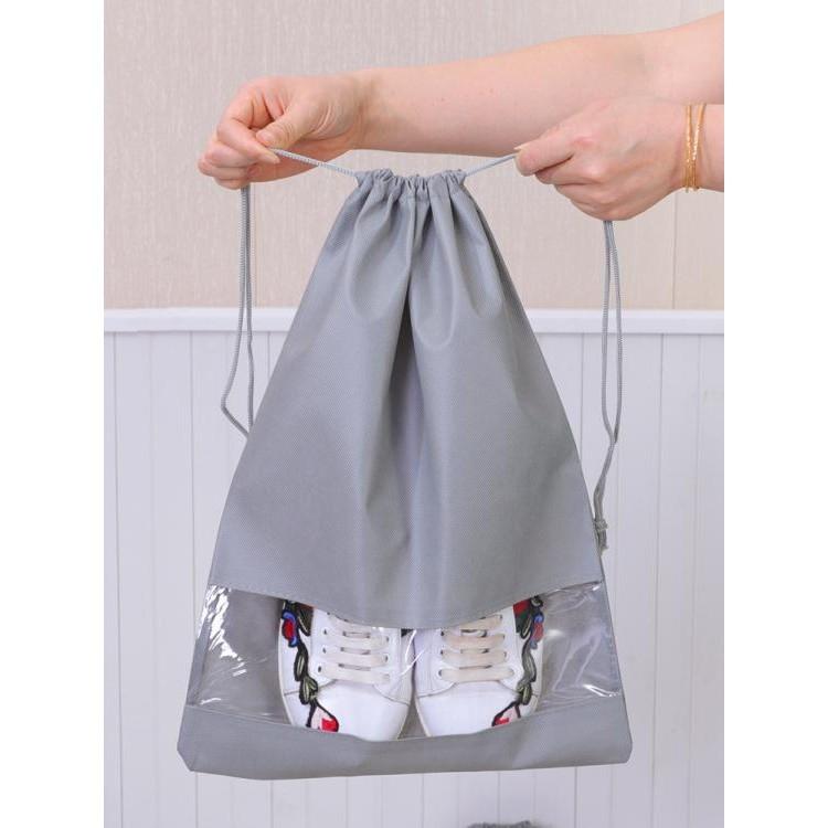 鞋子收納袋旅行鞋包收納包束口防塵袋家用鞋罩整理袋透明鞋盒鞋套wy