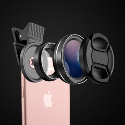 NEROS 2018最新通用型手機鏡頭專業37MM 0.45X 49UV超級廣角微距鏡頭 (8.2折)