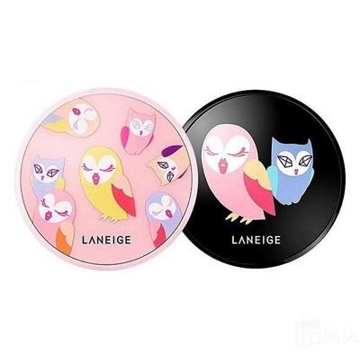 Laneige 蘭芝xLUCKY CHOUETTE 限量版貓頭鷹氣墊粉餅 (8.1折)