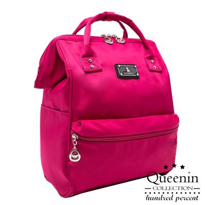 Queenin - 小資超人氣尼龍寬口後背包-共4色 (3.3折)