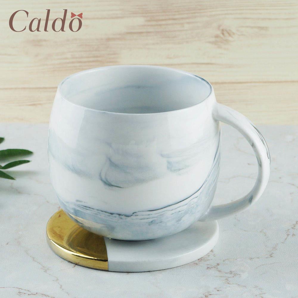 caldo卡朵生活山脈悠悠大理石紋馬克杯