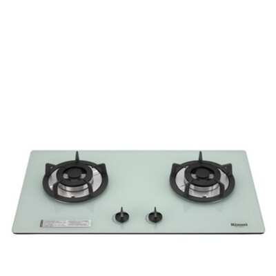 (含標準安裝)林內【RB-202GH-W_NG1】雙口玻璃防漏檯面爐白色鋼鐵爐架(與RB-202GH (8.2折)