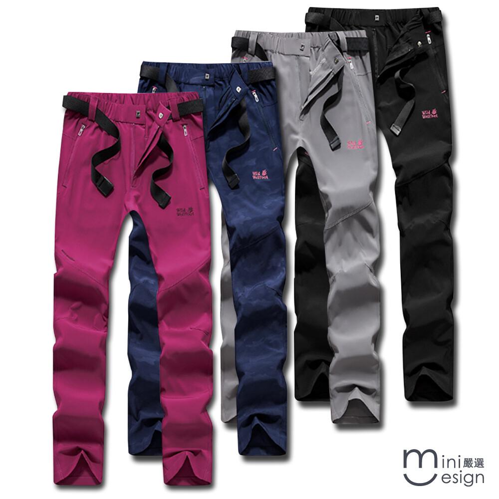 (女款)男女款透氣彈性修身速乾機能長褲 四色-mini嚴選