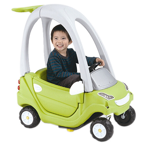 寶貝樂豪華嘟嘟造型學步車附踏板及控制桿-綠色