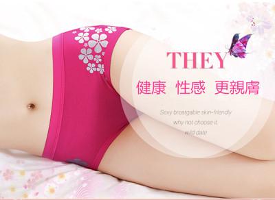 竹纖維抗菌除臭低腰燙銀內褲 (0.9折)