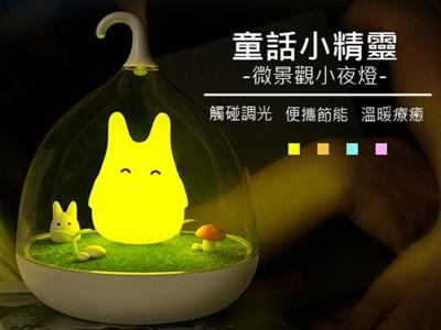 【交換禮物首選】 創意童話小精靈LED微景觀夜燈 龍貓燈 小夜燈 精靈燈 (6折)