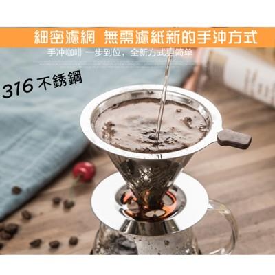 雙層316不鏽鋼濾網杯1-2人份(小號)/咖啡濾杯 (4.8折)
