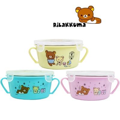 【賣客王國】拉拉熊幼兒 雙耳隔熱碗450ml/餐盒/餐碗/學習碗 (5.1折)