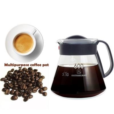 SYG台玻耐熱玻璃咖啡壺600ML(塑膠握把)/沖泡壺/泡茶壺 (6.8折)