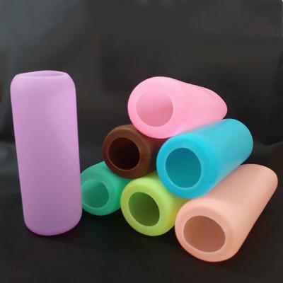 easy 300c.c.玻璃隨行杯配件-矽膠果凍杯套/柔美果凍杯套/全包糖果色矽膠杯套 (1.7折)