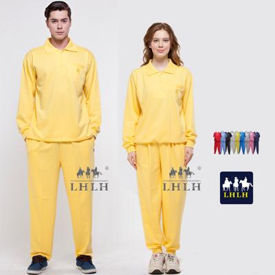 黃色套裝 廟會服 進香服 素 素面 長袖 男 女 Polo衫 (2.5折)