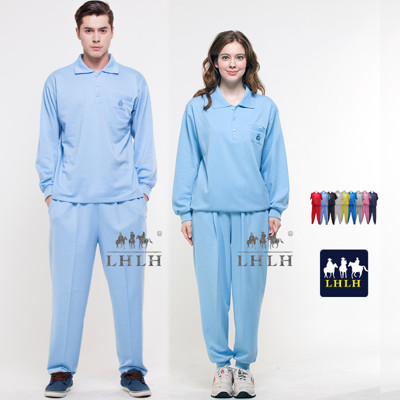 健檢服裝 水藍色套裝 運動套裝 看護服 長袖 Polo衫 男女 (2.5折)