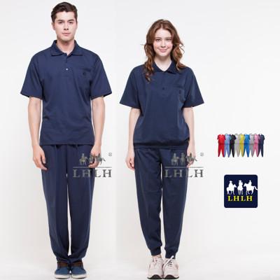 深藍色 丈青 運動服 休閒服套裝 團體服 短袖 女 男 Polo衫 (2.5折)