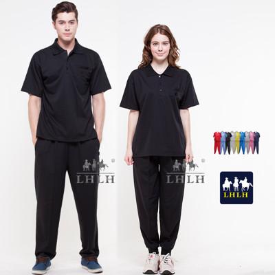 黑色衣服 素面 工作服 運動套裝 短袖 男女 Polo衫 (2.5折)
