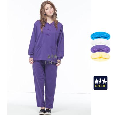 深紫 紫色 運動套裝 唐人裝 素 長袖 女生 男生 【現貨】 (2.5折)