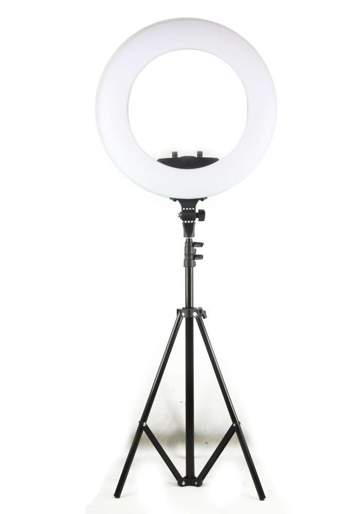 18吋環形補光燈組合 含燈架 (環燈加寬版)三種色溫/亮度自由調節 多種供電方式使用更便利