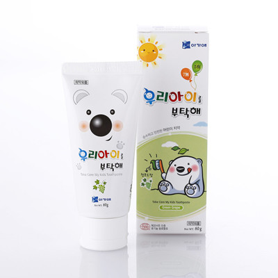 韓國寶貝熊兒童牙膏-葡萄60g (5.4折)