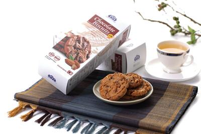 【全聯熱銷】191巧克力餅乾軟餅-杏仁/葡萄 (150g/盒) (4折)