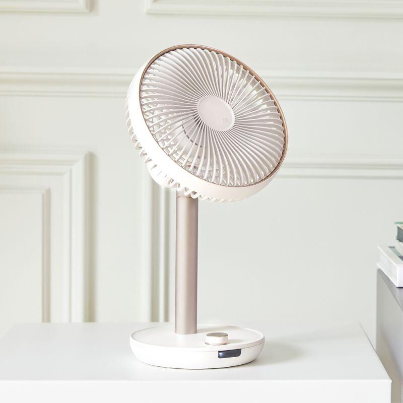 n9-fan prime usb伸縮遙控擺頭風扇-雪花白