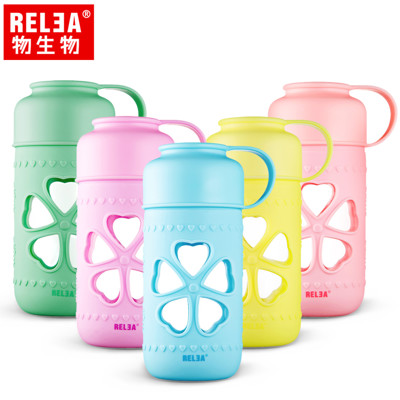 【香港RELEA物生物】410ml哈尼幸運耐熱玻璃杯 (3折)