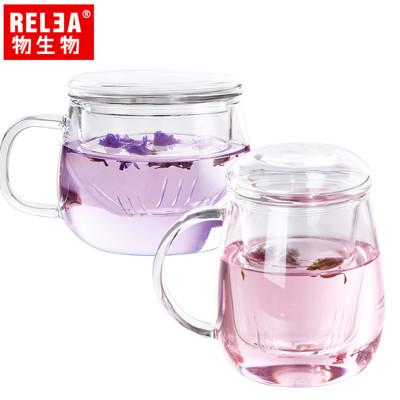 【香港RELEA物生物】320ml耐熱玻璃泡茶杯 兩款(玲瓏&小蘑菇) (3.9折)