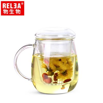 【香港RELEA物生物】500ml大蘑菇耐熱玻璃泡茶杯(附濾茶器) (4.1折)