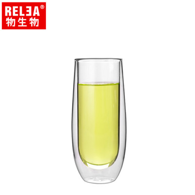 【香港RELEA物生物】150ml意式元素雙層耐熱玻璃杯 (3.9折)