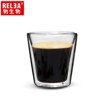 【香港RELEA物生物】110ml耐熱雙層玻璃義式濃縮咖啡杯 (1.9折)
