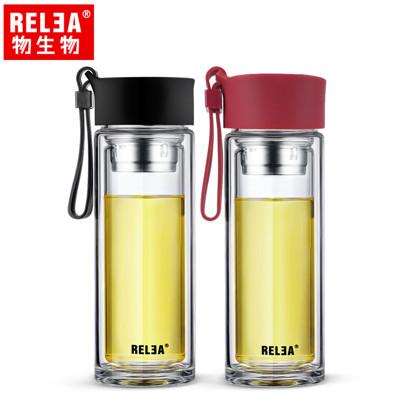 【香港RELEA物生物】260ml型格耐熱雙層玻璃杯(二色) (5折)