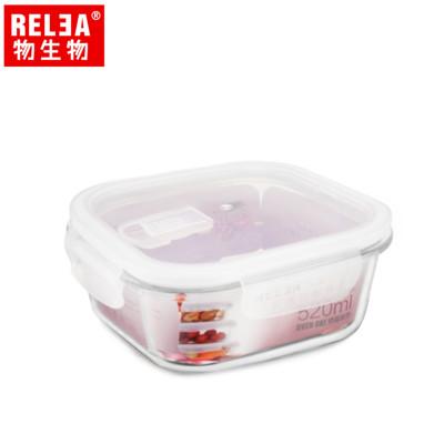 【香港RELEA物生物】耐熱玻璃微波保鮮盒 (5折)