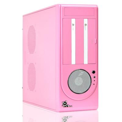 【YAMA】小天堂 2大3小 粉紅色電腦小機殼 (9.6折)