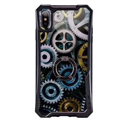 【NavJack】iPhone Xs Max (6.5吋) │時空齒輪站立式抗摔空壓保護殼│宙斯黑