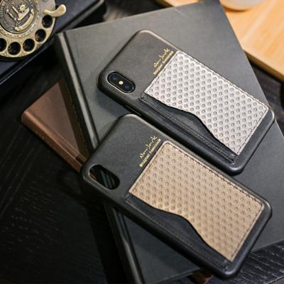 【NavJack】iPhone X/XS(5.8吋)│雙色卡夾可立式保護背蓋