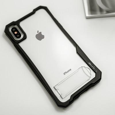 【NavJack】iPhone Xs Max(6.5吋)│STIFF 站立式抗摔吸震空壓保護殼
