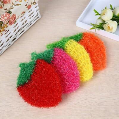 現貨當天出 韓國草莓針織#洗碗巾#不掉毛不沾油刷碗布廚房不傷鍋清潔布 (10折)