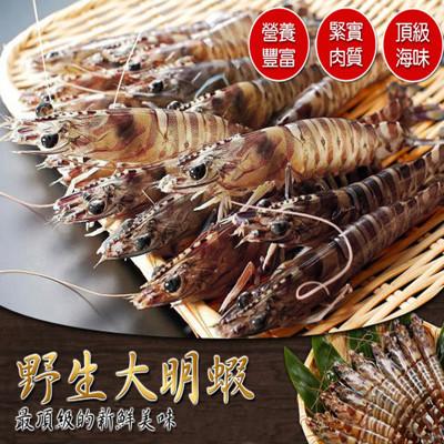 生凍野生斑節大明蝦(10尾/盒) (4.6折)