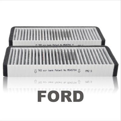 【TKD】車用冷氣空調活性碳濾網FORD Focus/Kuga/Fiesta 髒污辨識專利 (7.4折)