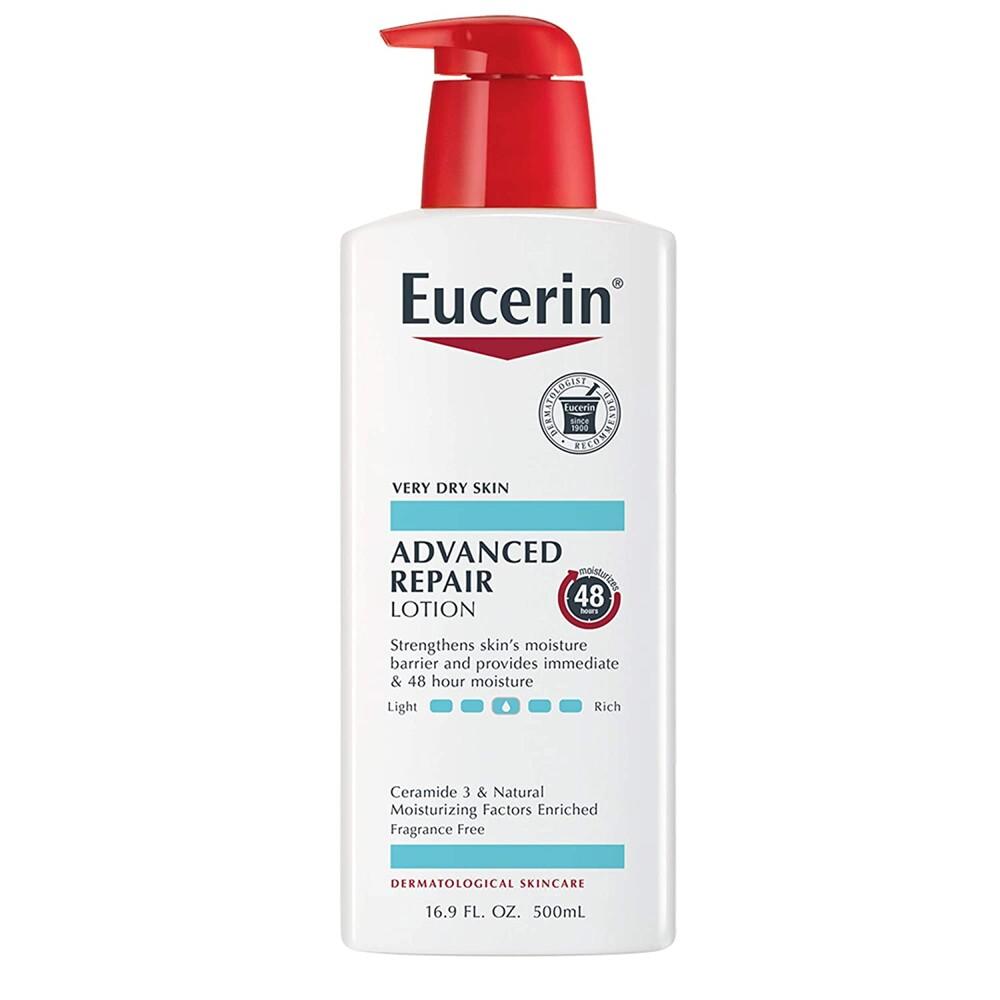 美國eucerin(密集修護乳液)無香-2款(16.9oz)*1