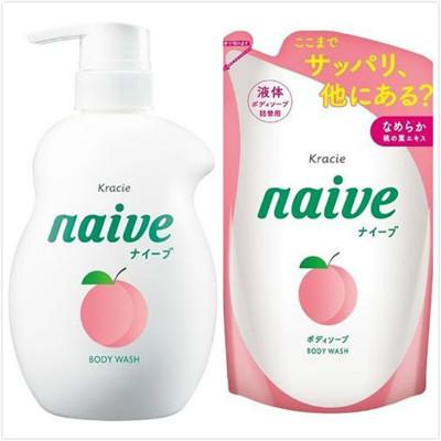 【日本 kracie 葵緹亞】Naive 娜艾菩植物沐浴乳(530ml+380ml) (8折)