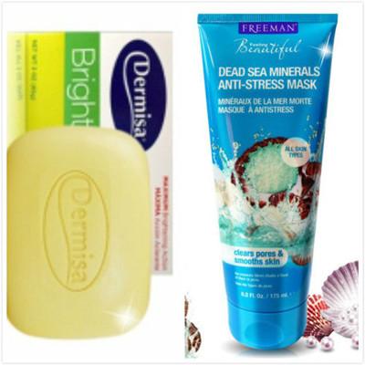 【Dermisa】淡斑嫩白皂(85g )*1+Freeman水洗式死海礦鹽淨白面膜(175ml)*1 (6.4折)