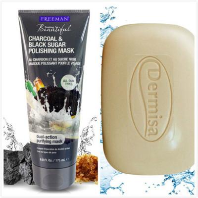 【Dermisa】粉刺淨膚皂(85g)*1+【Freeman】木炭黑糖粉刺拋光面膜(175ml)*1 (6.6折)